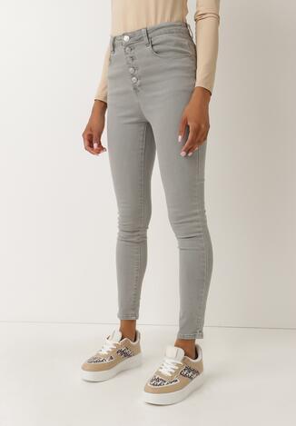 Szare Spodnie Skinny Fuandoc