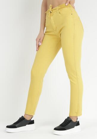 Żółte Spodnie Push-Up Melwyn