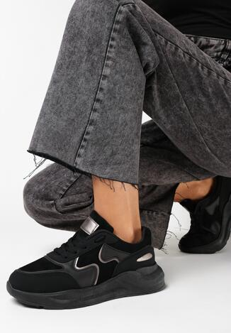 Czarne Sneakersy Keiro