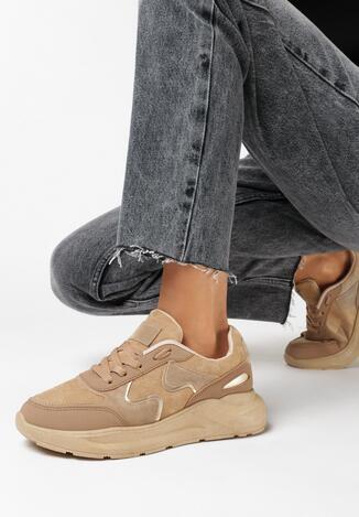Ciemnobeżowe Sneakersy Keiro
