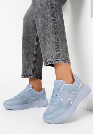 Niebieskie Sneakersy Keiro