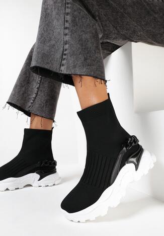 Czarne Sneakersy Derith