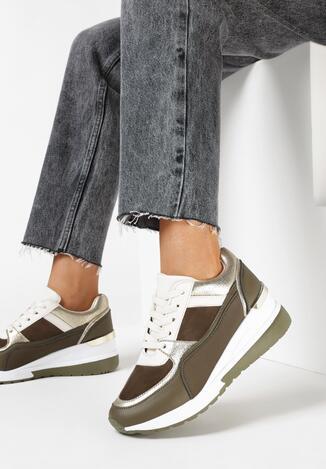 Oliwkowe Sneakersy Levenaïg