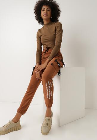 Camelowe Spodnie Dresowe Oulin