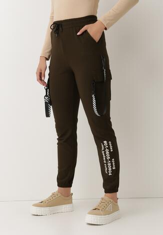 Ciemnozielone Spodnie Dresowe Oulin