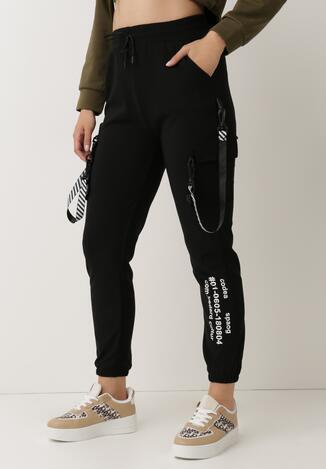 Czarne Spodnie Dresowe Oulin