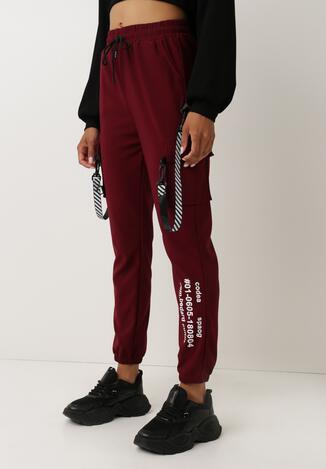 Bordowe Spodnie Dresowe Oulin