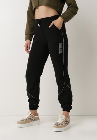 Czarne Spodnie Dresowe Bewetel