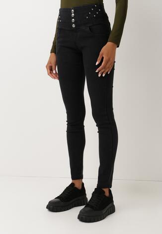 Czarne Spodnie Manik