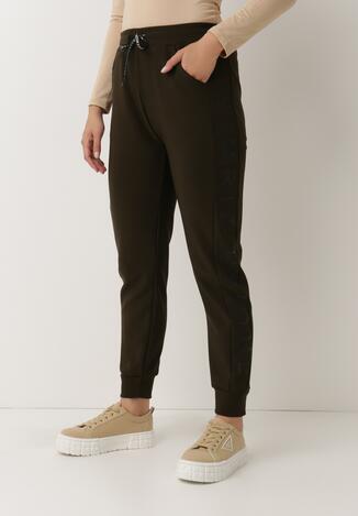Ciemnozielone Spodnie Dresowe Ywetel
