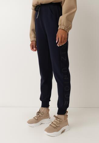 Granatowe Spodnie Dresowe Ywetel