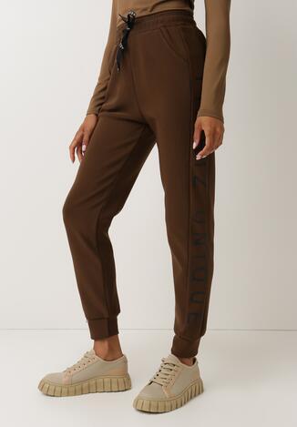 Brązowe Spodnie Dresowe Ywetel