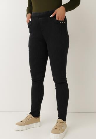 Czarne Spodnie Skinny Jenestren