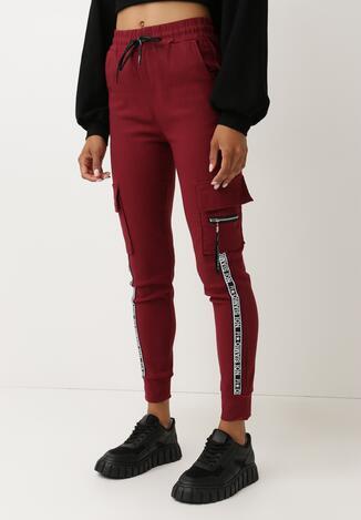 Bordowe Spodnie Dresowe Gladhuil