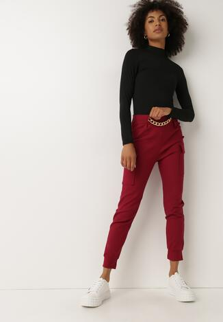 Bordowe Spodnie Nesrec