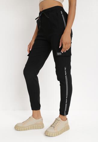 Czarne Spodnie Dresowe Derith