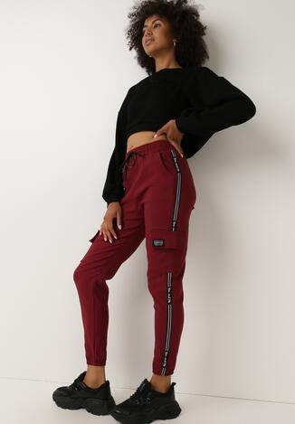 Bordowe Spodnie Dresowe Derith