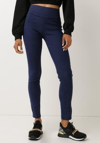Granatowe Spodnie Slim Nulceude