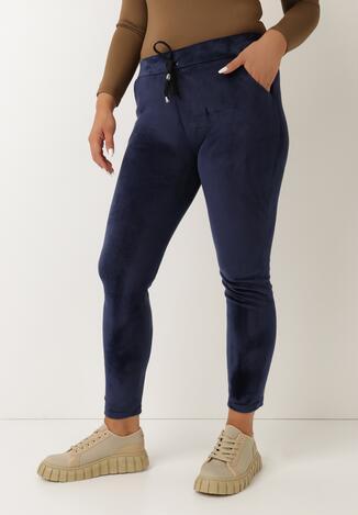 Granatowe Spodnie Vudyvia