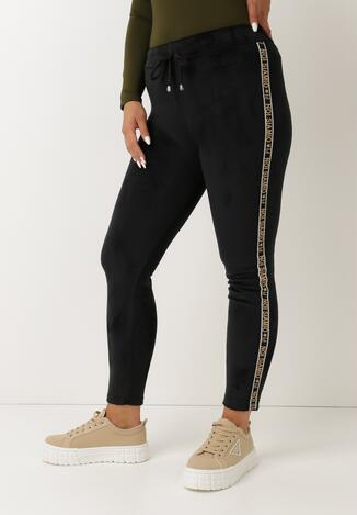Czarne Spodnie Welurowe Lamorith
