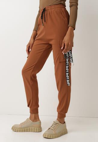 Camelowe Spodnie Dresowe Checenedl