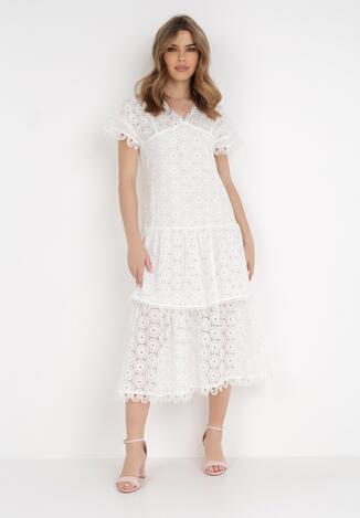 Biała Sukienka Nevarde