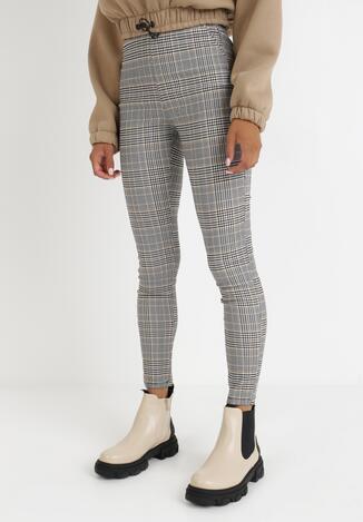 Czarno-Beżowe Spodnie Pidise