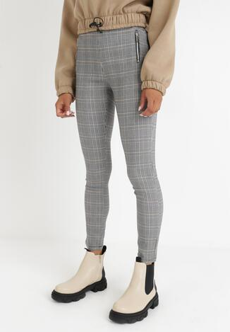 Szare Spodnie Skinny Acarephis