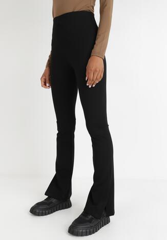 Czarne Spodnie Dzwony Raelura