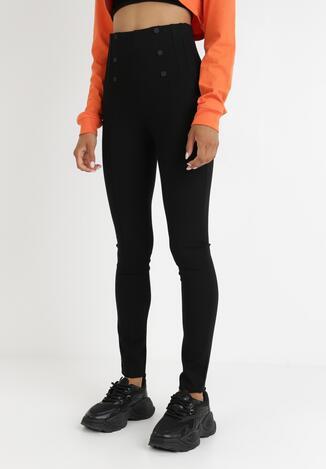 Czarne Spodnie Skinny Ubaviel