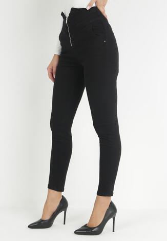Czarne Spodnie Push-Up Nedalise