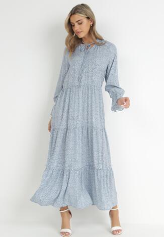 Niebieska Sukienka Ganig
