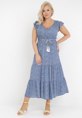 Niebieska Sukienka Tudanna