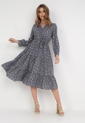 Granatowa Sukienka Cintrine