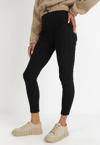Czarne Spodnie Skinny Asikea