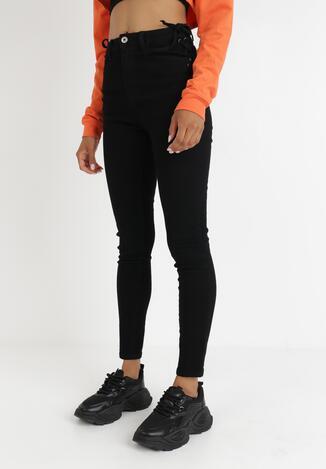 Czarne Spodnie Skinny Oaranelle