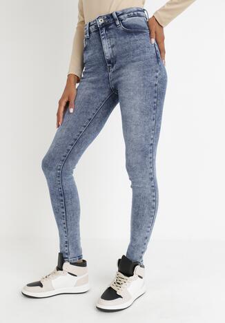 Niebieskie Jeansy Skinny Ahor