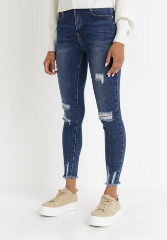Niebieskie Jeansy Skinny Zelireisis
