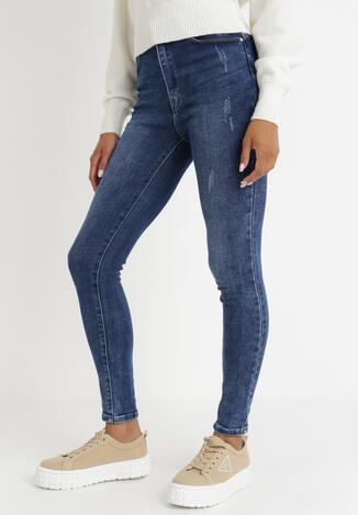 Niebieskie Jeansy Skinny Petidanea