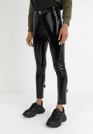 Czarne Spodnie Winylowe Ianagina