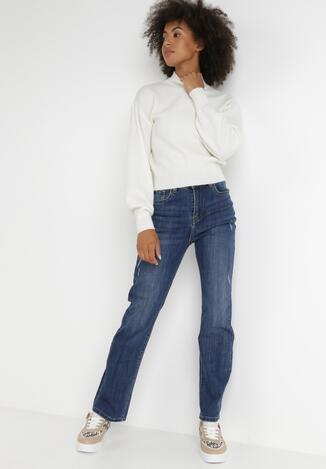 Niebieskie Jeansy Straight Vivine
