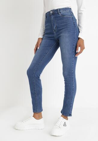 Niebieskie Jeansy Straight Aely