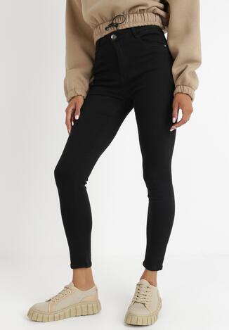 Czarne Spodnie Skinny Amiphiphise