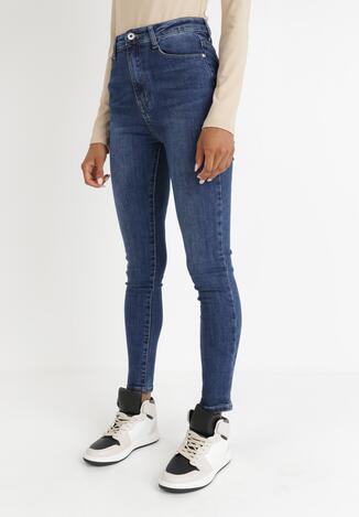 Niebieskie Jeansy Skinny Kelameni