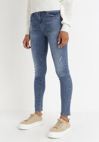 Niebieskie Jeansy Skinny Limonohre