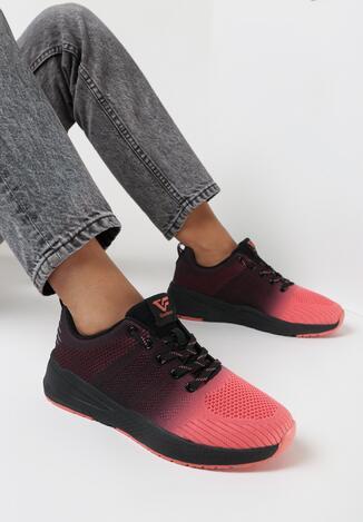 Czarno-Czerwone Buty Sportowe Izrail