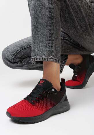 Czarno-Czerwone Buty Sportowe Omniel