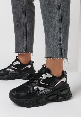 Czarne Sneakersy Thelmine