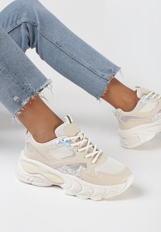 Beżowe Sneakersy Thelmine