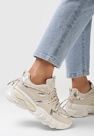 Beżowe Sneakersy Melinoire